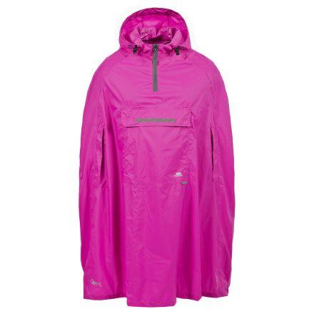 Trespass Adults Waterproof Poncho in Pink Qikpac