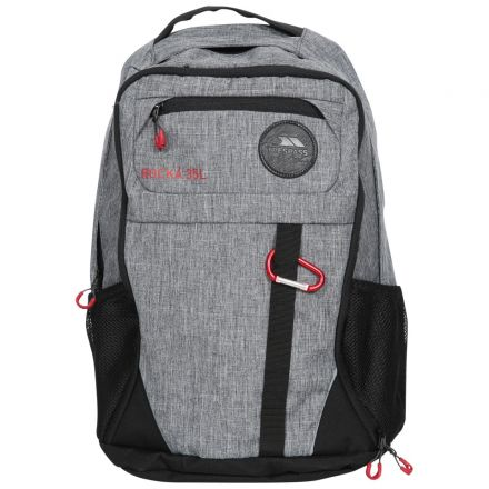 Rocka 35L Backpack in Grey, Front view