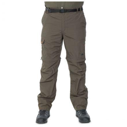 Rynne Men's Zip Off Cargo Trousers in Khaki