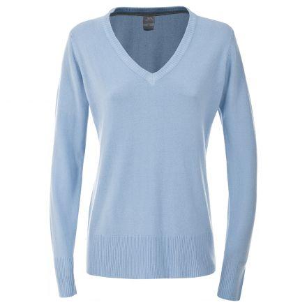 Sansa Women's Long Sleeve V-Neck T-shirt in Light Blue