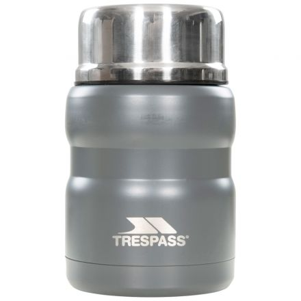 Scran 500ml Stainless Steel Thermal Food Flask in Grey