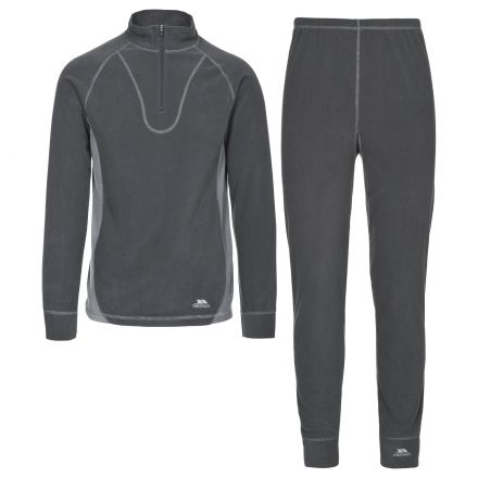 Trespass B Adults Thermal Base Layer Set in Grey Thriller