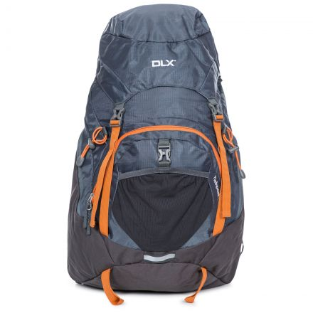 Twinpeak DLX 45L Rucksack with Raincover in Grey, Angle view