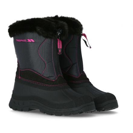 Zesty Women's Waterproof Snow Boots in Black, Pair of footwear