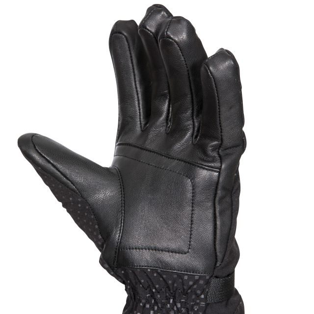 Trespass DLX Adults High Performance Ski Gloves in Black Alazo