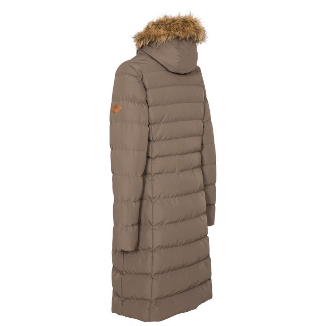 Trespass Womens Padded Jacket Casual Audrey in Khaki