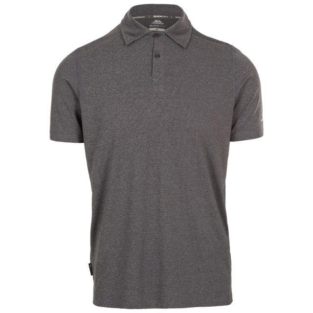 Trespass Men's Polo Shirt Bagbydon Grey