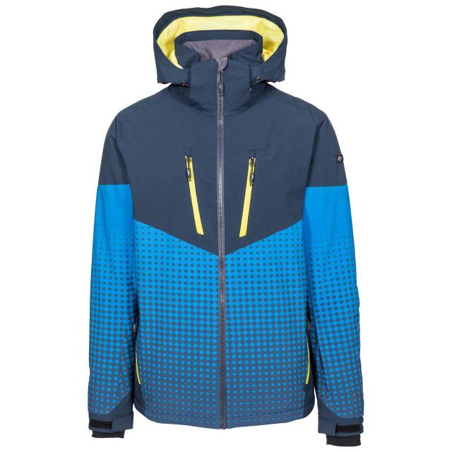 Bert Men's Waterproof Ski Jacket in Navy, Front view on mannequin