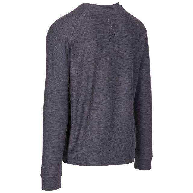 Callum Men's DLX Antibacterial Long Sleeve T-Shirt in Black