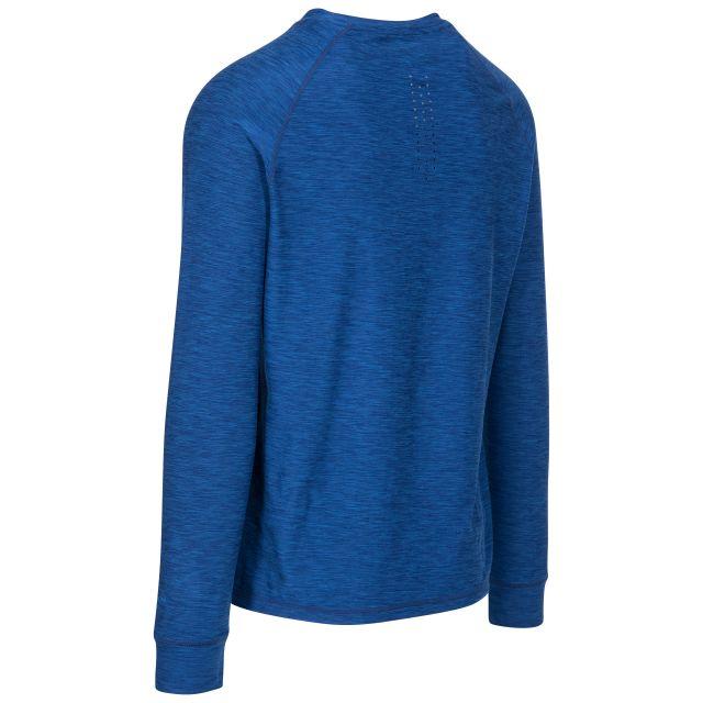 Callum Men's DLX Antibacterial Long Sleeve T-Shirt in Blue