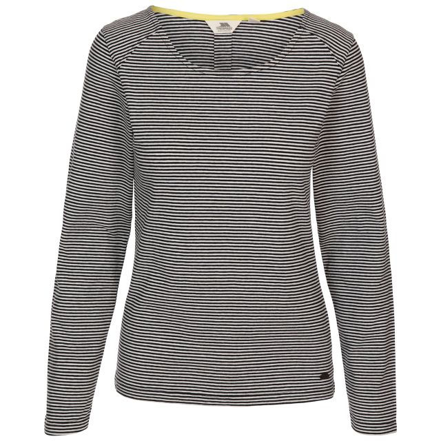 CARIBOU - FEMALE CASUAL TOP - BKS, Front view on mannequin