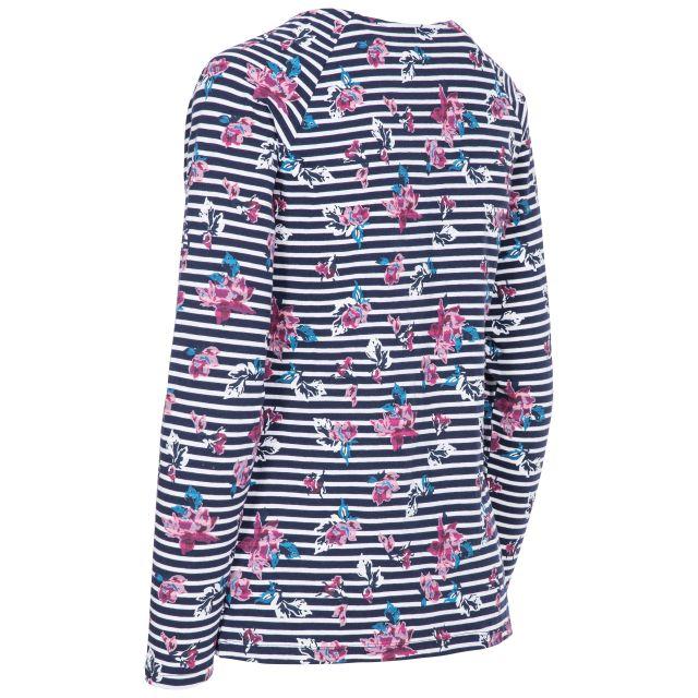 Dellini Women's Long Sleeve Top Floral Stripe
