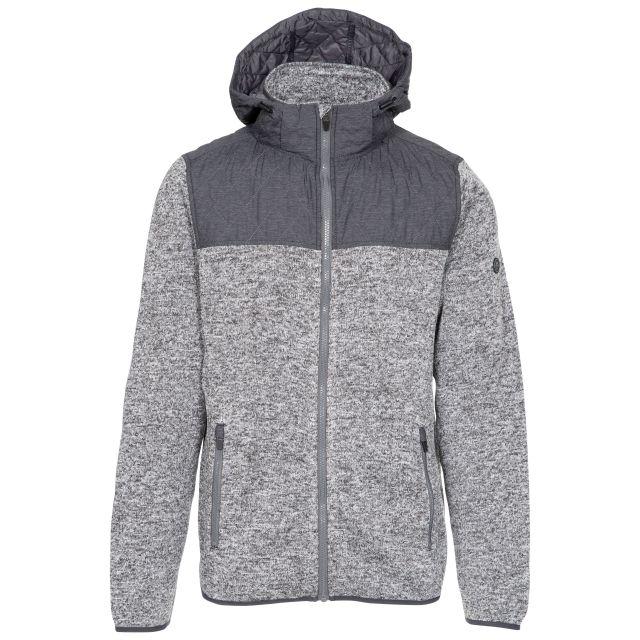 Fairleystead Men's Hooded Fleece Jacket - DGM, Front view on mannequin