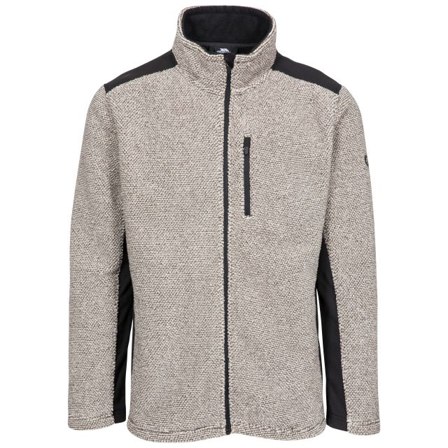 Faratino Men's Knitted Striped Fleece Jacket - TRF, Front view on mannequin