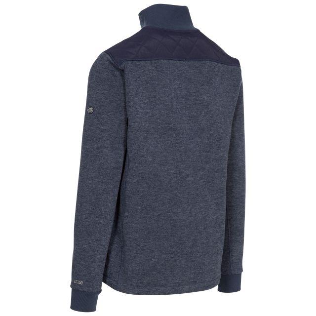 Trespass Mens Fleece Jacket Full Zip Chest Pocket Farlowton Blue