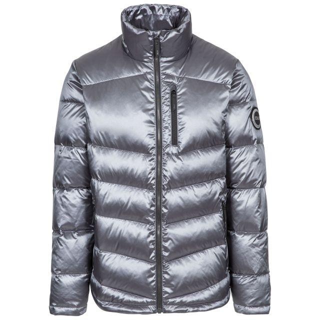 Gene Men's DLX Down Jacket - PEW, Front view on mannequin