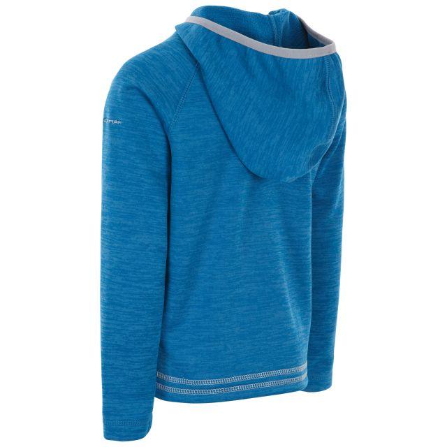 Trespass Kids Fleece Jacket with Hood Full Zip in Blue Goodness