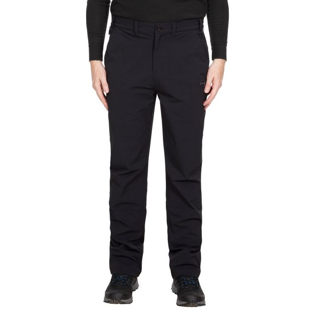Hades Men's DLX Eco-Friendly Walking Trousers - BLK, Front view on mannequin