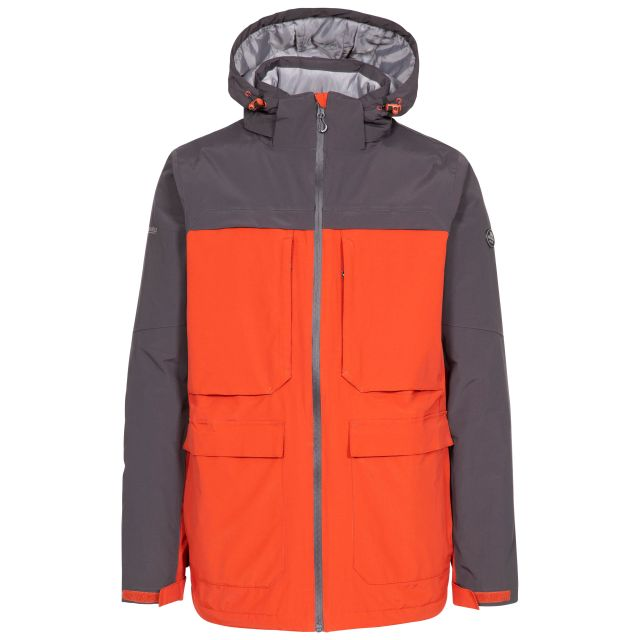 Heathrack Men's Padded Waterproof Jacket in Spice, Front view on mannequin