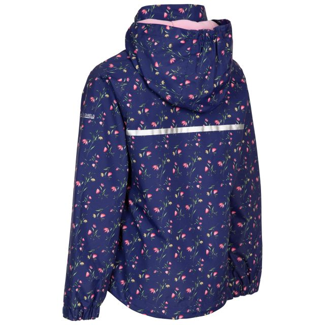 Trespass Girls Waterproof Jacket Hopeful Dark Blue