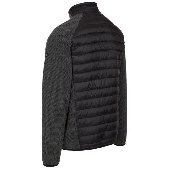 Trespass Men's Fleece Jacket Hybrid Full Zip Jynxter Black