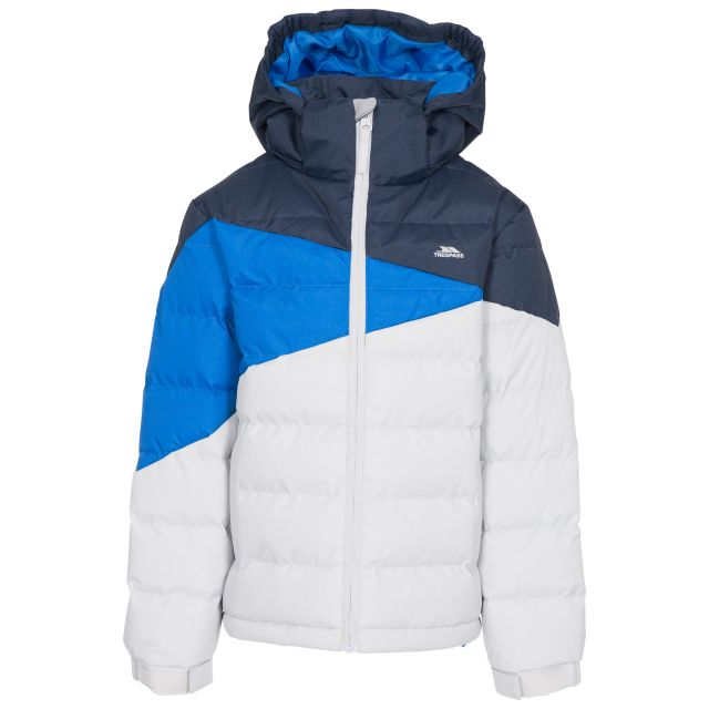 Layout Kid's Padded Jacket - PGR, Front view on mannequin