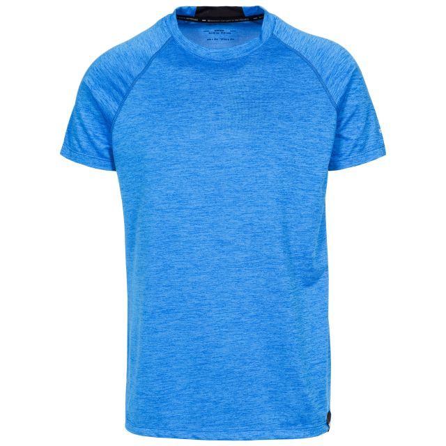 Loki Men's DLX Eco-Friendly T-Shirt in Blue, Front view on mannequin