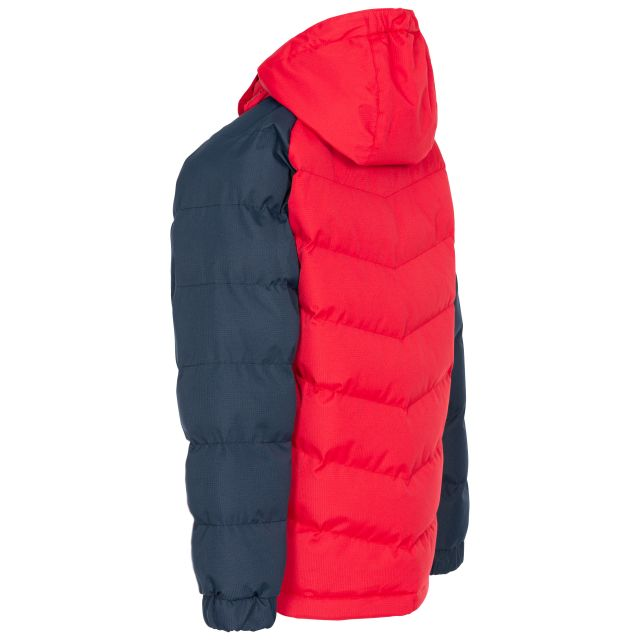 Trespass Boys Padded Jacket in Red Sidespin