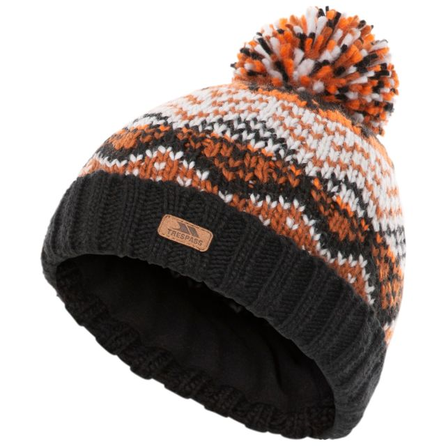 Trespass Kids Knitted Hat with Pom Pom Sprouse - BLK