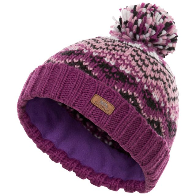 Trespass Kids Knitted Hat with Pom Pom Sprouse - WLP