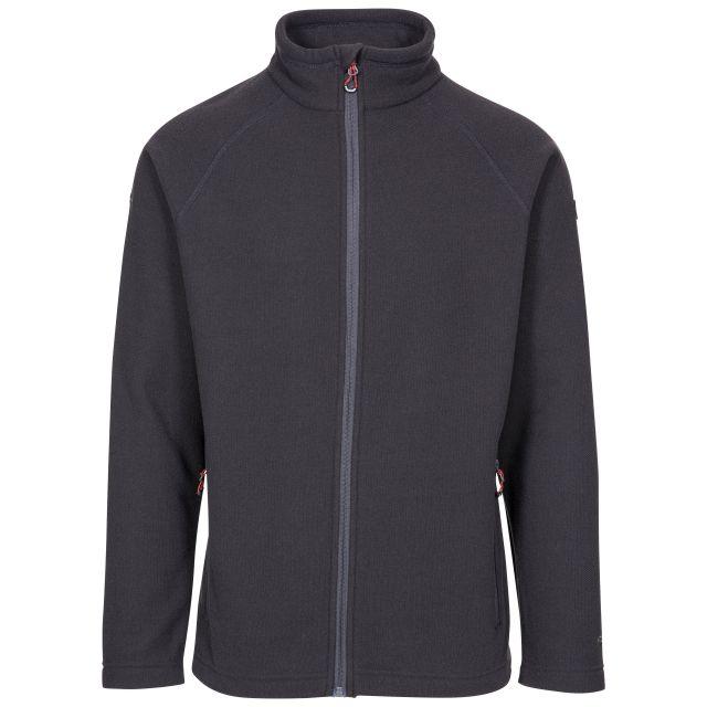 Trespass Adults Fleece Jacket Full Zip 2 Pockets Steadburn Grey, Front view on mannequin