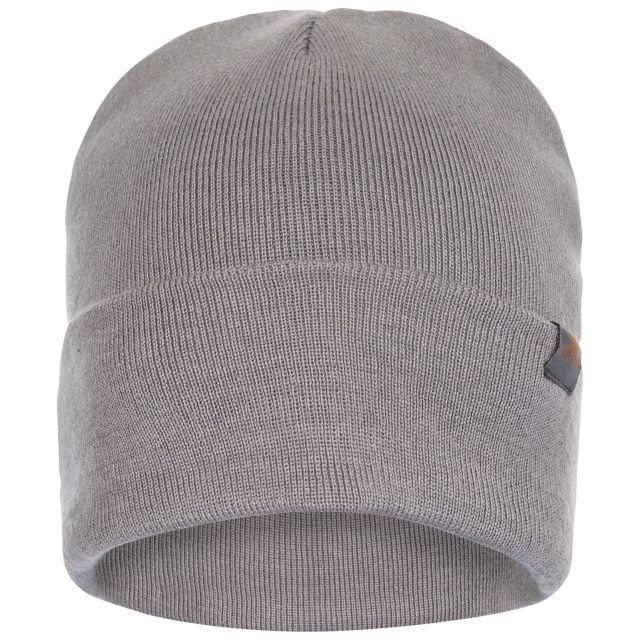 Stines Adults' Beanie Hat in Grey, Hat at angled view