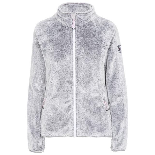 Telltale Women's Soft Furry Fleece Jacket - SIG, Front view on mannequin