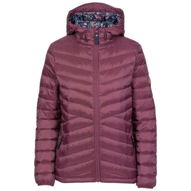 Thora Women's Ultra Lightweight Down Jacket - FIG, Front view on mannequin