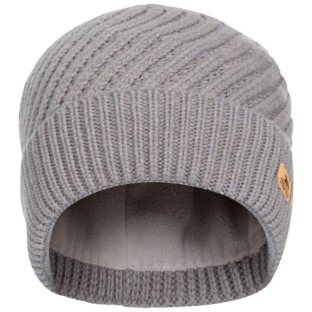 Twisted Women's Knitted Beanie in Grey