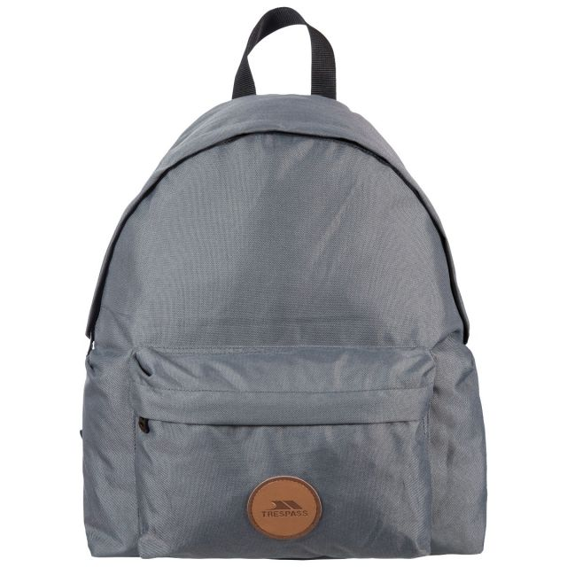 Aabner Grey 18L Casual Backpack - GRY, Back view