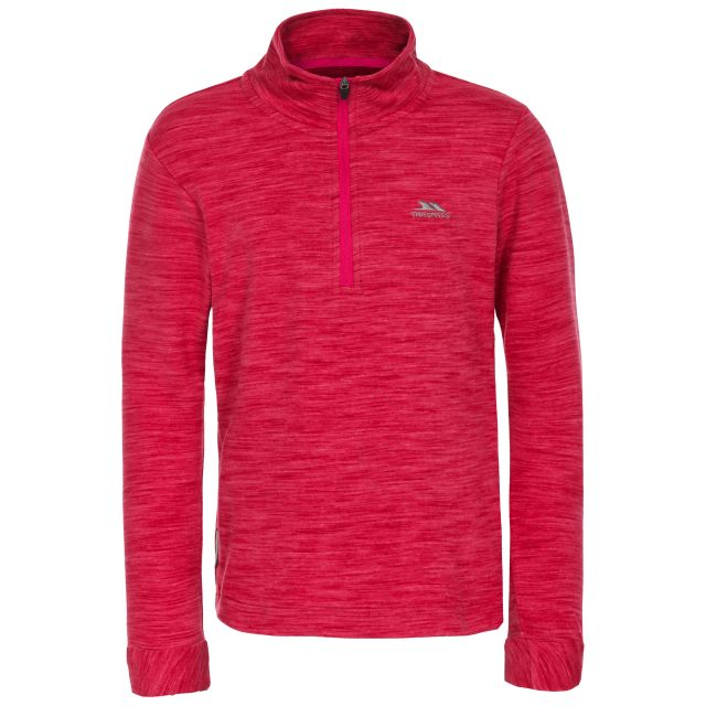 Abra Kids' Quick Dry Active Top in Pink, Front view on mannequin