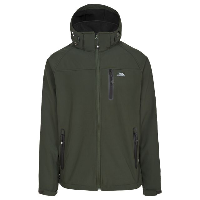 Accelerator II Men's Hooded Softshell Jacket in Khaki