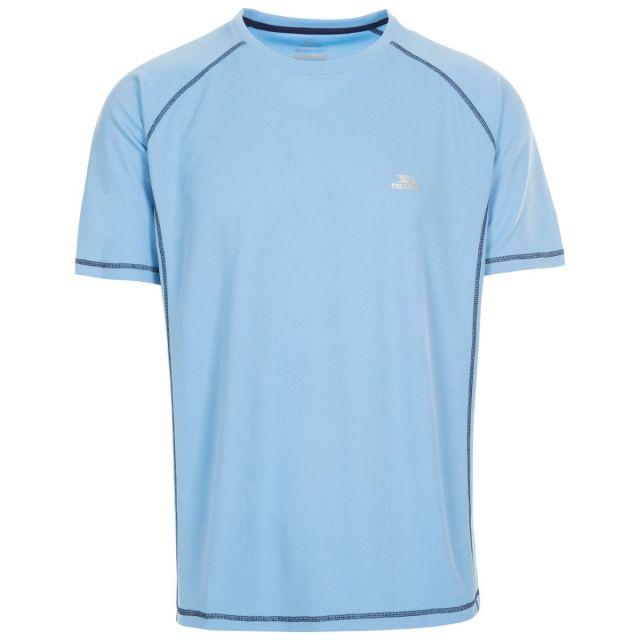 Albert Men's Quick Dry Active T-Shirt Blue, Front view on mannequin