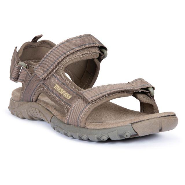 Alderley Men's Walking Sandals in Brown, Front view of footwear