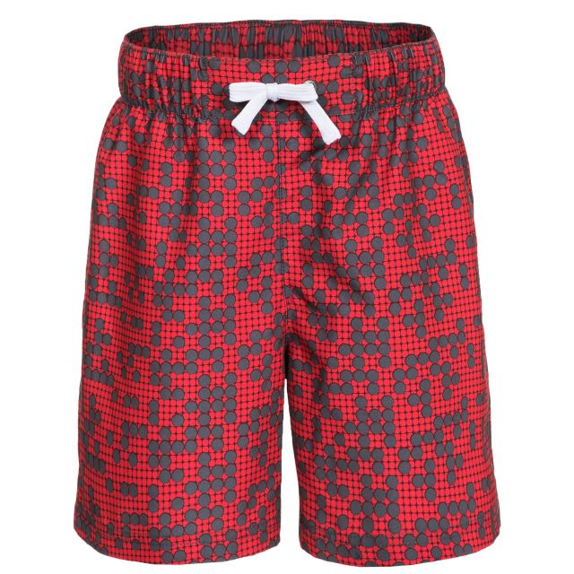 Alley Kids' Printed Summer Shorts in Red