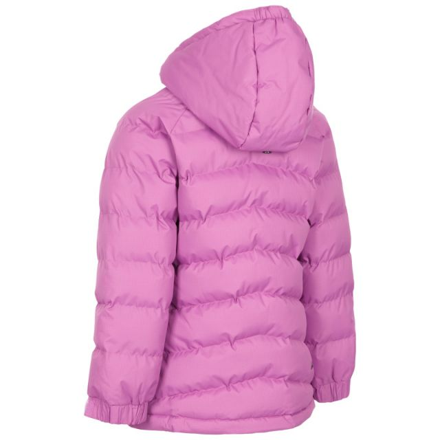 Trespass Kids Padded Waterproof Jacket in Deep Pink Amira
