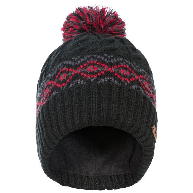 Andrews Men's Fleece Lined Bobble Hat in Black
