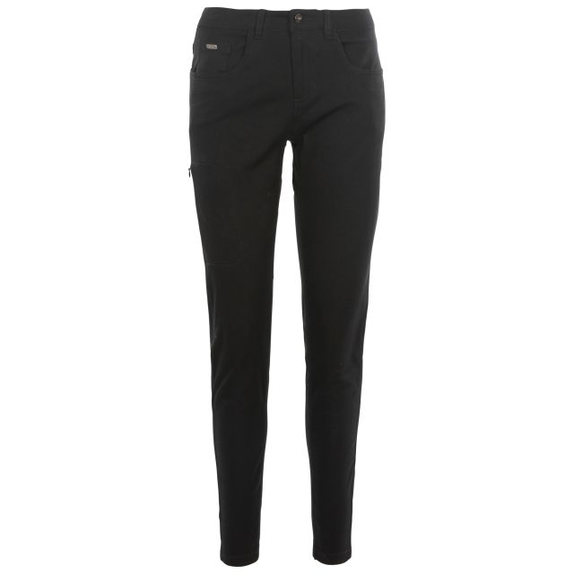 Aneta Women's Trousers with Comfort Stretch in Black, Front view on mannequin