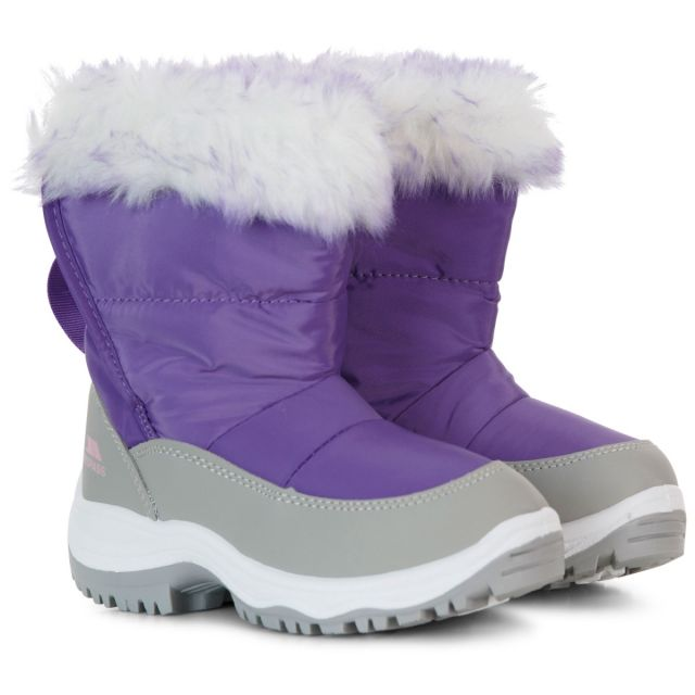 Trespass Kids Snow Boots Water Resistant Insulated in Purple Arabella