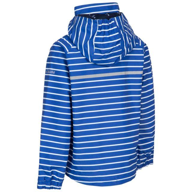 Trespass Kids Printed Waterproof Jacket in Blue Arrival