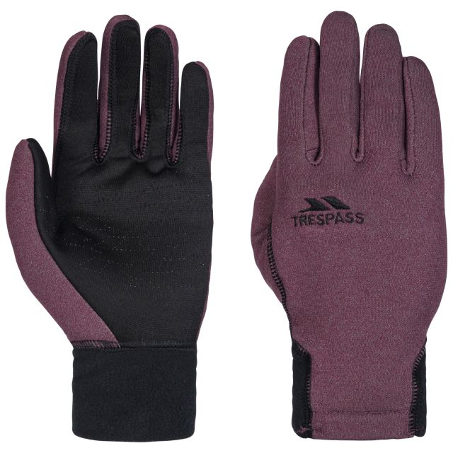 Trespass Adults Gloves in Burgundy Atherton