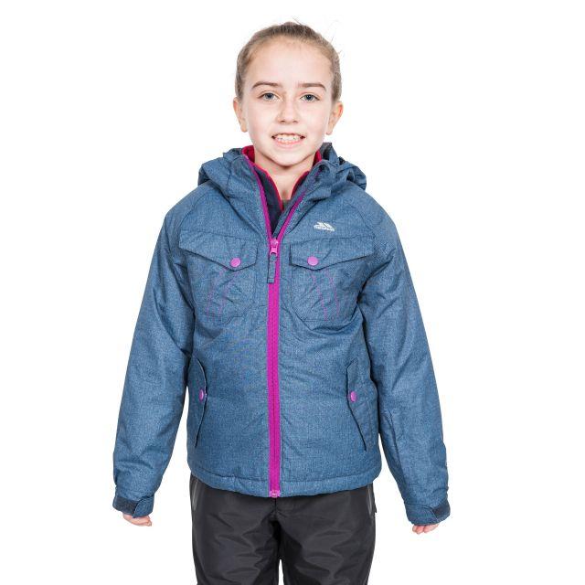 Trespass Girls Ski Jacket in Navy Backspin