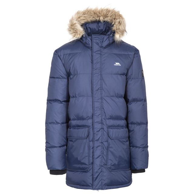Baird Men's Down Parka Jacket - NA1, Front view on mannequin