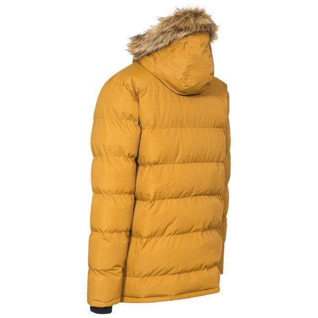 Baldwin Men's Padded Parka Jacket in Yellow